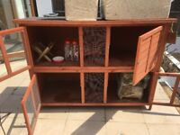Double Story Rabbit Hutch and Rabbit starter kit with accessories