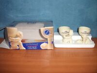 COLLECTABLE LURPAK LIMITED EDITION DOUGLAS EGG CUPS, BOXED