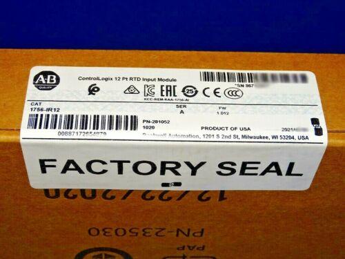 2021 FACTORY SEALED Allen Bradley 1756-IR12 /A RTD Input Module ControlLogix