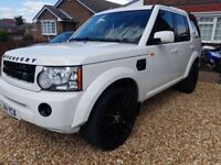 White Land rover discovery 3 2.7 tdv6 auto disco 4 upgrades diesel 4x4 7 seater range rover