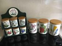 Portmerion storage jars