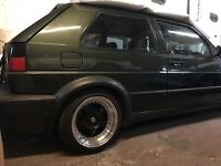 Mk2 Golf gti oak green with Vr6 running gear done at tsr