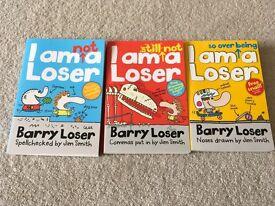 3 x Barry Loser children's fiction books NEW