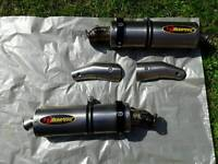 Akrapovic Titanium double oval exhaust system