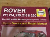 haynes rover dec 1995 -1998 manual