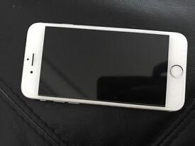 iPhone 6 sliver and white