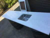 quartz worktop NEWCASTLE BELFAST can deliver if necessary suit kitchen utility room like granite