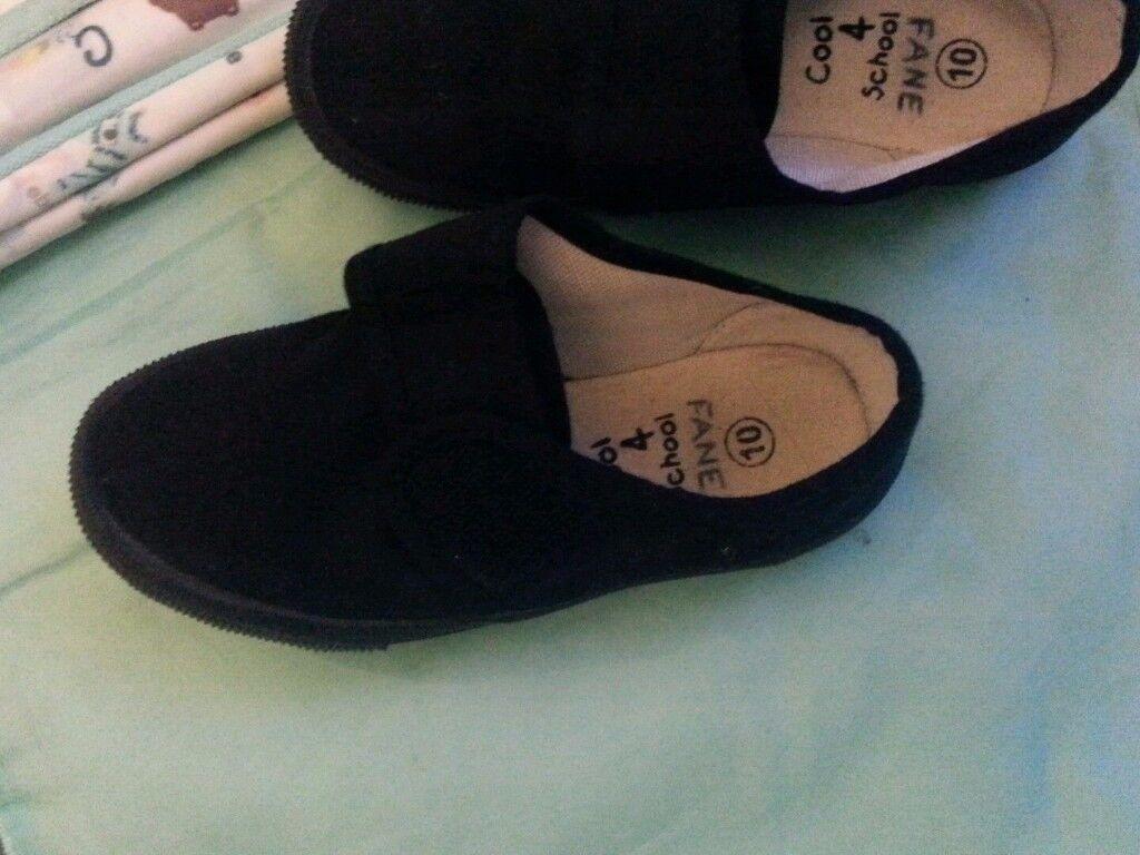 Boys Black Cool 4 School Shoes UK Sizes 10