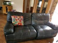 Free to collect leather sofa available Saturday 27th may