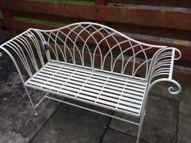 Brand new metal garden bench