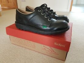 Black leather Kickers size 4 - barely worn