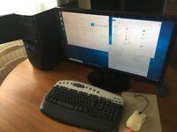 "Asus Antec Gaming PC Rig Games computer 3.2Ghz Windows 10 Nvidia GT520 Samsung 27"" HDMI Monitor"