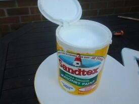 Santex Masonary white paint 5 litre , almost full