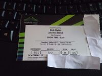 1 ticket for Bob Dylan's concert on the 9th of May at Wembley SSE Arena