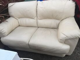 Beige leather sofa for sale