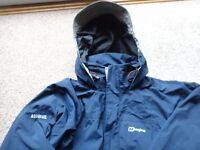 Mens Medium Aqua foil Berghaus jacket with hood used but still in great condition