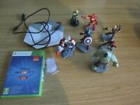 DISNEY INFINITY 2.0 X BOX GAME AND FIGURES