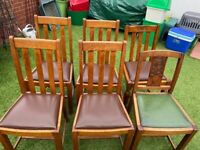 6 Oak Wooden Chairs - Collection from n8 asap