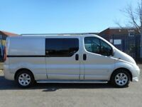 FINANCE AVAILABLE!! NO VAT!! Absolutely Stunning Lwb 6 seat crew van with full crew chrome kit...