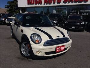 2010 MINI Cooper 6 speed manual, sunroof, leather,safety etest p