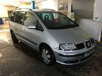 Seat Alhambra 2.0 reference Silver 7 Seater New MOT