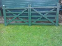 Wooden five bar gates