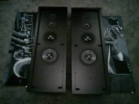 Artcoustic DFF 120 43 pair of black speakers with upgraded grills