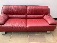 Red Sofa - Very Clean in good condition FOR FREE - In the Ormskirk area