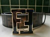 Fendi belt Brown size 115cm Made in Italy