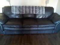 SOLD!!!! GONNA GO FAST!!!! Black leather couch and chairSOLD