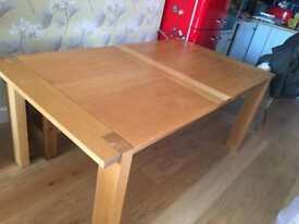 M&S Sonoma solid oak extending dining table