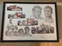 Formula 1 framed print tribute to McLaren