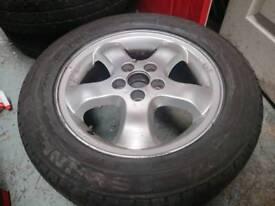 """Saab 93 16"""" single/spare wheel + tyre"""