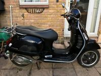 PIAGGIO VESPA GTS 300cc SUPER 2009/59 REG BLACK 1 OWNER FRON NEW 10500 MILES NEW MOT GOOD CONDITION
