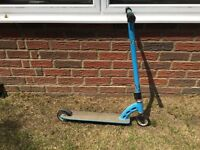 Blue metal scooter