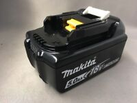 Brand new genuine MAKITA bl1850 5.0AH BATTERY LATEST STAR VERSION WITH LED INDICATOR