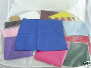 TOP-Quality-Pocket-Hankie-9-x-9-23cm-x-23cm-Squares-FREE-P-P-2UK-1st-Class