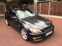 53 PLATE LEXUS IS200 SPORT AUTO BLACK TOM TOM SAT NAV FULL LEATHER DRIVES GREAT