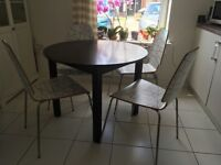 Ikea chair 4 pieces (£80.00) and dining table (£45.00)