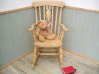 Stunning Beech Rocking Chair.