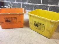 FREE pair of large plastic recycling boxes