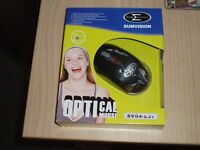 SUMVISION Black 3-button USB Wired 800dpi Optical Mouse SVO4-L37 - NEW