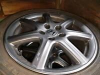 Honda civic 4 x gunmetal grey alloys in good condition, 5 x 114.3 fitting, good 225/45/17 tyres.