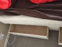 """Single 2' 6"""" Divan Bed, two drawers, mattress and headboard"""