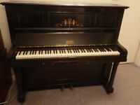 Upright Piano, Berry of London, iron frame - FREE