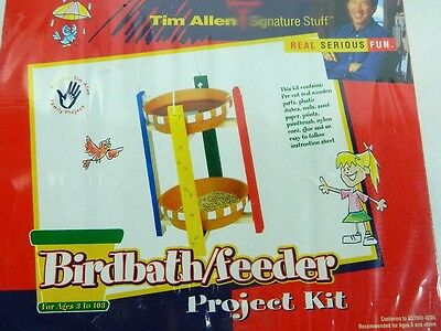 BIRD BATH FEEDER PROJECT KIT TIM ALLEN SIGNATURE STUFF NEW IN SHRINK WRAP BOX