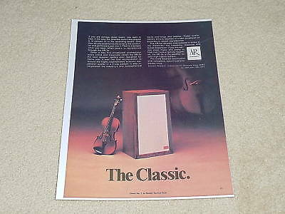 Acoustic Research AR-3a Speaker Ad, 1971, 1 pg, Rare!