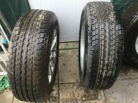 set of 4 Genuine Mitsubishi L200 Barbarian Alloy Wheels and 4 Bridgestone 245/65 R17 new tyres