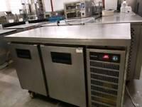 commercial 2 door prep fridge catering equipment