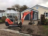 Mini digger hire ,
